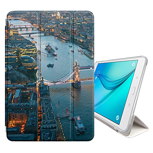 Graphic4You London Aerial View Postcard Design Ultra Slim Case Smart Cover Stand [with Sleep/Wake Function] for Samsung Galaxy Tab S4-10.5