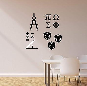 Wsqyf Mathematical Symbols School Classroom Mathematics Science Vinyl Wall  Decals Home Decoration Art...