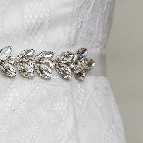 Women's Sashes Wedding Wedding Belts for Sash Black Belt Crystal Bridal Azaleas SnFOO7