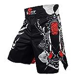 Men Boxing Shorts Polyester MMA Shorts Print Sparring Muay Thai Fight Training Shorts