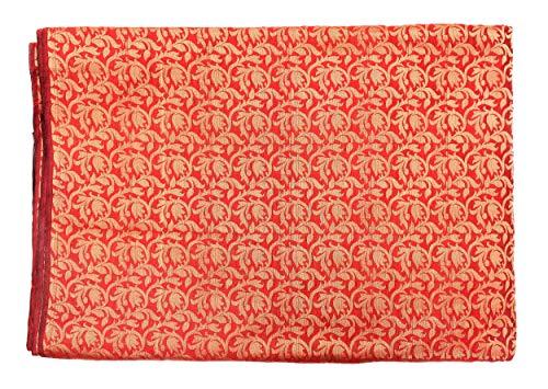 Handicraft-Palace Silk Brocade Fabric Drapery Upholstery Curtain Fabric Home Decor Indian Banarasi Faux Silk Fabric 44