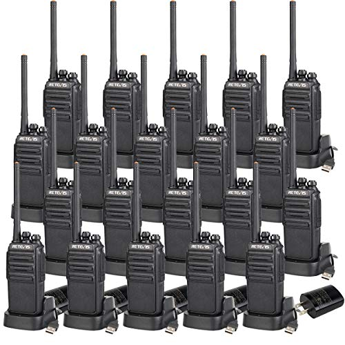 Retevis H-777S Walkie Talkies Rechargeable Voice Encrypt Security 2 Way Radios Long Range Monitor Scan Function Two Way Radio with Charger (20 Pack) (The Best 2 Way Radios)