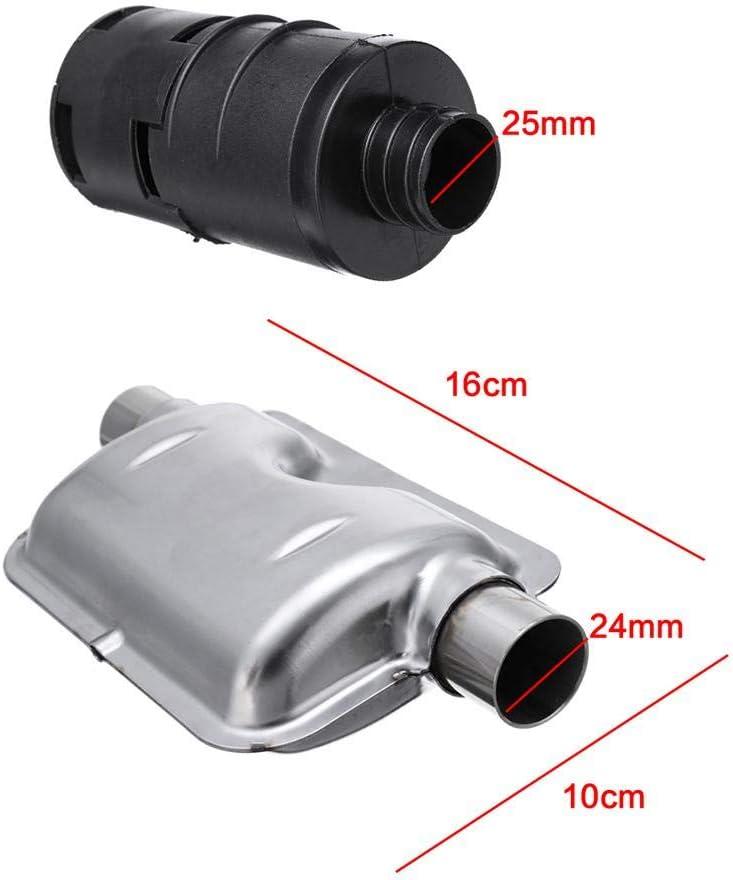 Accessorio Filtro 25 Mm decaden 8PCS Accessori per Riscaldatori per Auto,Accessori per Materiali di Consumo Universali per Auto Riscaldatore Aria Silenziatore di Scarico 24 Mm