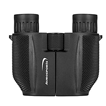 Aurosports 10x25 Folding High Powered Binoculars Weak Light Night Vision Clear Bird Watching Great Outdoor Sports Games Concerts
