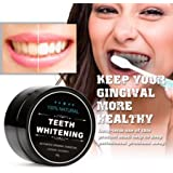 All Natural Teeth Whitening Powder with Coconut Activated Charcoal - Safe Effective Tooth Whitener Solution for Stronger Healthy Whiter Teeth with Instructions