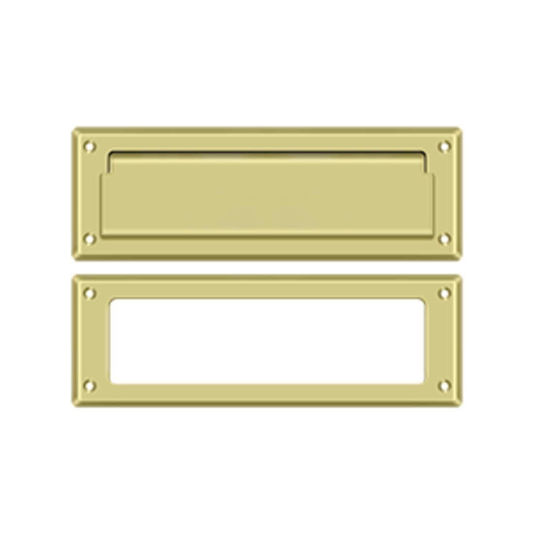 Deltana MS626U3 8 7/8-Inch Mail Slot with Solid Brass Interior Frame