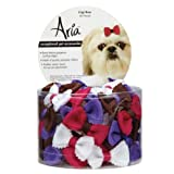 Aria Polyester Gigi Dog Bows Canister with Rubber Band, 48-Pack, My Pet Supplies