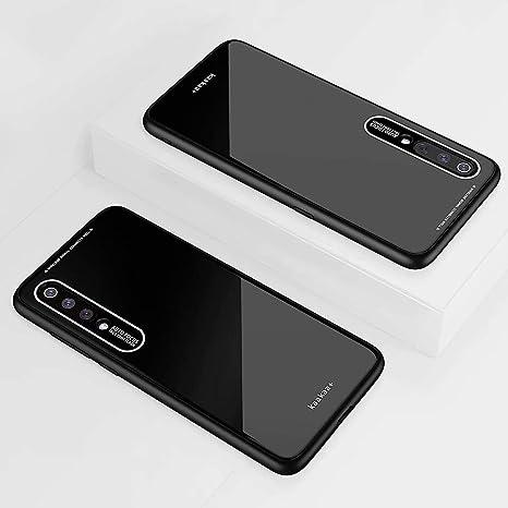 KSHOP Compatible con Funda para Xiaomi mi 9 SE, Estuche Carcasa Forro Ultra Delgada TPU Parachoques, Trasera de Vidrio Templado: Amazon.es: Electrónica