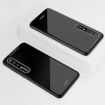 DYGG Compatible con Funda para Xiaomi mi 9 SE, Estuche Carcasa Forro Ultra Delgada TPU Parachoques, Trasera de Vidrio Templado - Negro