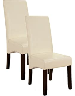 Amazoncom Set of 2 Parson Dining Chairs Contemporary Style