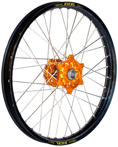 - Dubya Talon Orange Hub with Excel Takasago Black Rim Painted Finish Front Wheel (1.60x21