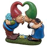 Garden Gnome Statue – Kiss and Tell Lover Gnomes – Lawn Gnome
