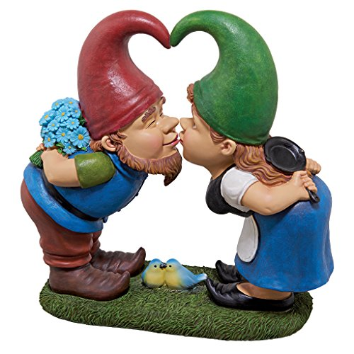 Garden Gnome Statue – Kiss and Tell Lover Gnomes – Lawn Gnome For Sale