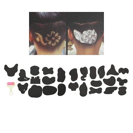 Plantilla de tatuaje para el pelo tatuajes patrones de peluquería ...