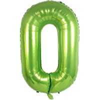 40 Inch Green Alphabet Letter Foil Helium Digital Balloons Number 0 for Birthday Anniversary Party Festival Decorations Green KALOR