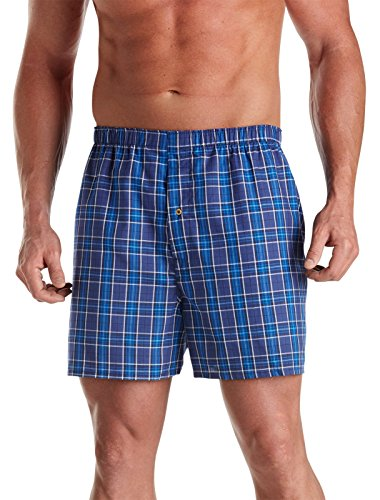 Harbor Bay by DXL Big and Tall 3-Pack Plaid Woven Boxers (6XL, ()
