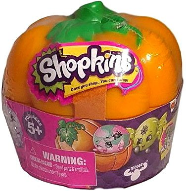 License To Play 56278 Shopkins Halloween Pumpkin, 2-Pack