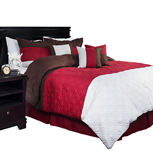 Lavish Home 7-Piece Layla Comforter Set, (Layla Pillow Sham)