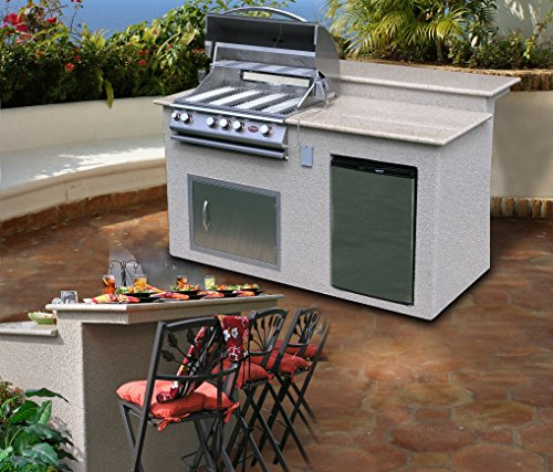 Cal Flame E6016 Outdoor Kitchen 4 Burner Barbecue Grill Island With Refrigerator Buy Online In Faroe Islands At Desertcart