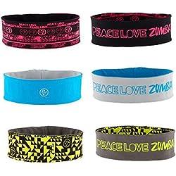 Zumba Peace Two Way Headbands - 3 Pack