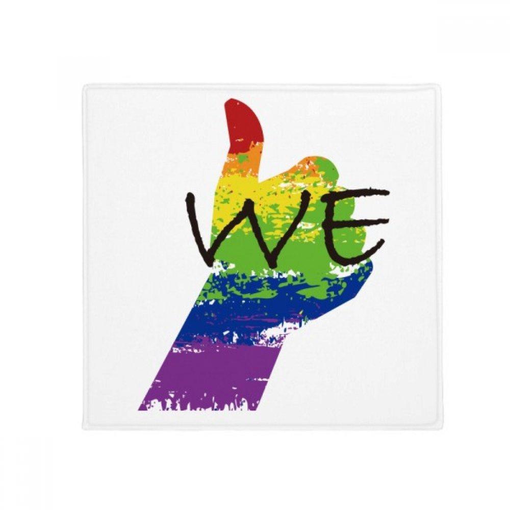 60X60cm DIYthinker LGBT Rainbow Flag We Anti-Slip Floor Pet Mat Square Bathroom Living Room Kitchen Door 60 50Cm Gift