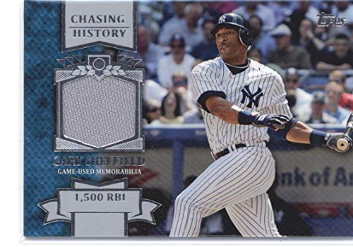 - 2013 Topps Chasing History Relics #CHR-GS Gary Sheffield Yankees Baseball Card (Memorabilia/Game Used) NM-MT