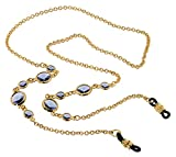 L. Erickson Daphanie Eyeglass Chain - Tanzanite/Gold