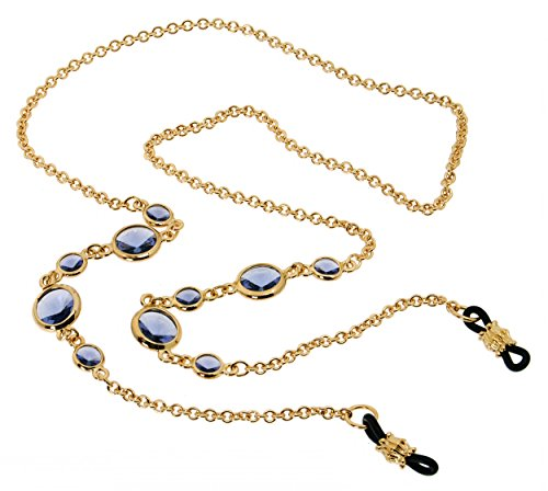 L. Erickson Daphanie Eyeglass Chain - Tanzanite/Gold by L. Erickson