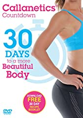 Countdown to a Firmer, Shapelier You! Welcome to the Callanetics Countdown. This is your 30-day program designed to get your body in great shape, quickly and effectively. Callanetics is a series of stretching and contracting exercises that ac...