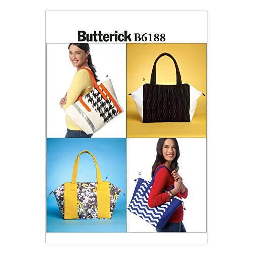 Butterick DIY Oversized Large Cloth Purse or Tote Bag with Zipper Sewing Pattern B6188OSZ