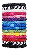 L. Erickson Grab & Go Ponytail Holder, Carnival, Set of Fifteen - Exceptionally Secure with Gentle Hold
