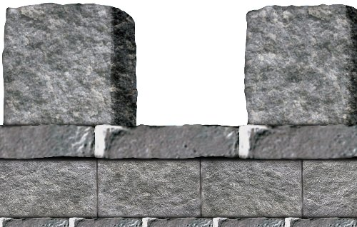 Stone Wall Border Party Accessory (1 count)