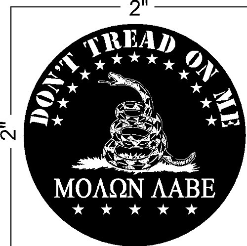 Molon Labe (COME AND TAKE THEM!) Don't Tread on Me, gadsden, Patriotic Black Hat Hardhat Motorcycle Helmet Decal Sticker Placard 2