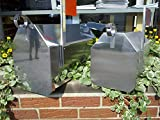 Stainless Steel Mailbox - Large Satin Finish Dutch Barn
