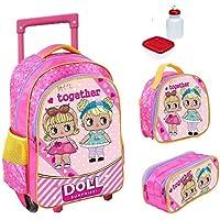 Kit Mochila Infantil Doll Surprise Com Lancheira E Estojo
