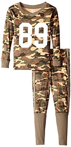Willy Wes Pants Boys And (Wes and Willy Boys' Little Slim Camo Football Pajama, 7)