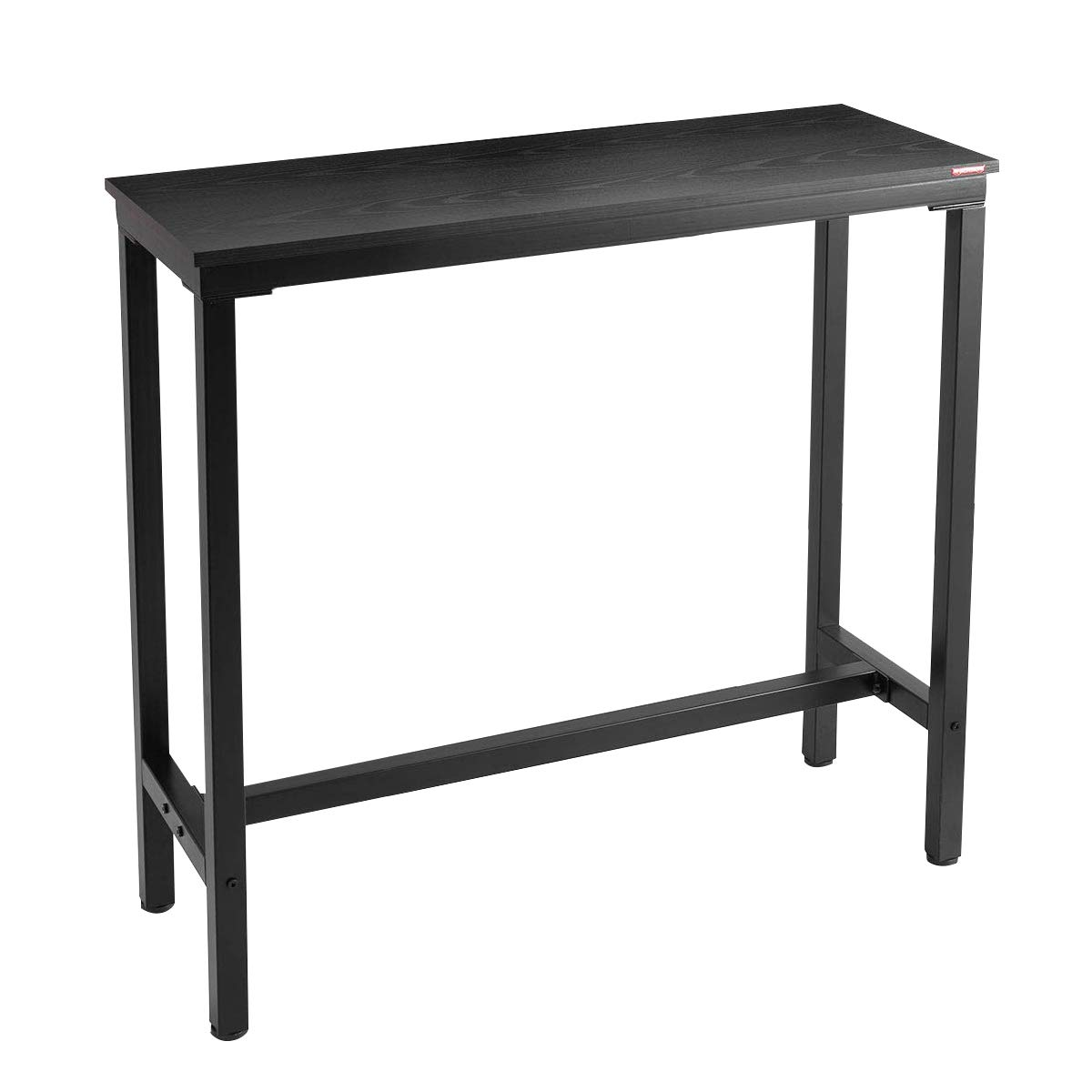 Mr IRONSTONE 39.4'' Bar Table Pub Dining Height Table Black Bistro Table (Indoor USE ONLY) by Mr IRONSTONE
