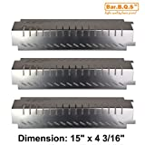 Bar.B.Q.S BPH94011 BBQ Barbecue Replacement Gas Grill Stainless Steel Heat Plate Shield Tent Diffuser Deflector for Centro, Charbroil, Costco, Thermos, Lowes Model Grills, CBHP4 (3-Pack)
