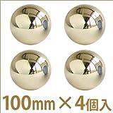 【 クリスマス飾り ボールオーナメント 】シャイニーボール 100mm 4個入 ゴールド