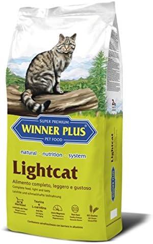 Winner Plus lightcat 10 kg – Alimento natural, completo y sin glutine con reducido contenido consumo para gatos adultos de todas las razas, poco Activo, mayores o sterilizzati, con la Tendenza ad