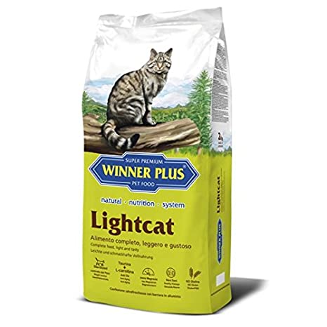Winner Plus lightcat 10 kg – Alimento natural, completo y sin glutine con reducido contenido