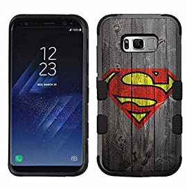 for Samsung Galaxy S8 Plus, Hard+Rubber Dual Layer Hybrid Heavy-Duty Rugged Armor Cover Case - Superman #Wood 18 Made with dual layers - Hard plastic (Outer layer)+Impact rubber (Inner layer) Superior protection from accidental bumps and drops Full access to all buttons, ports and speakers