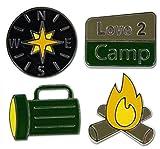 KAREN FOSTER Design Scrapbooking Grand Brads, Camping, 12 x 12