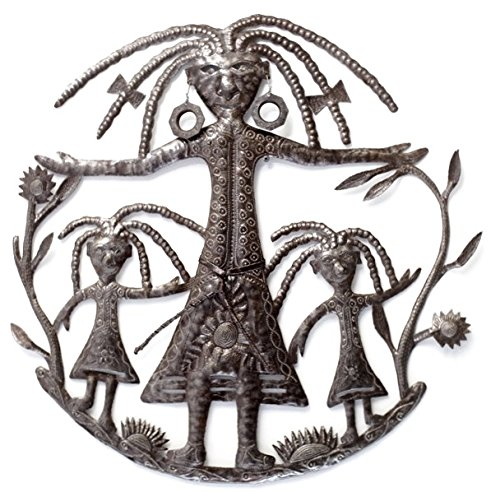 - Mother and Daughters Wall Sculpture,Mother's Day Handmade in Haiti, Recycled Metal 23