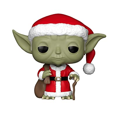 Funko Pop Star Wars: Holiday - Santa Yoda Collectible Figure, Multicolor: Toys & Games