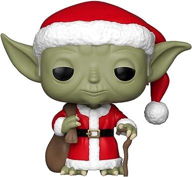 Funko Pop Star Wars Multicolor 33885 Holiday Santa Yoda Collectible Figure