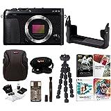 Fujifilm X-E3 Mirrorless Digital Camera (Body, Black) w/BLC Leather Case & Editing Software Bundle