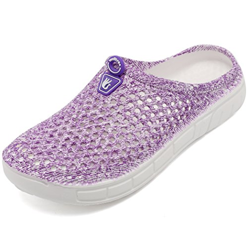 welltree Unisex Women's Men's Garden Clog Shoes Quick Drying Slippers Sandals 5.5 US Men/7.5 US Women Purple/38