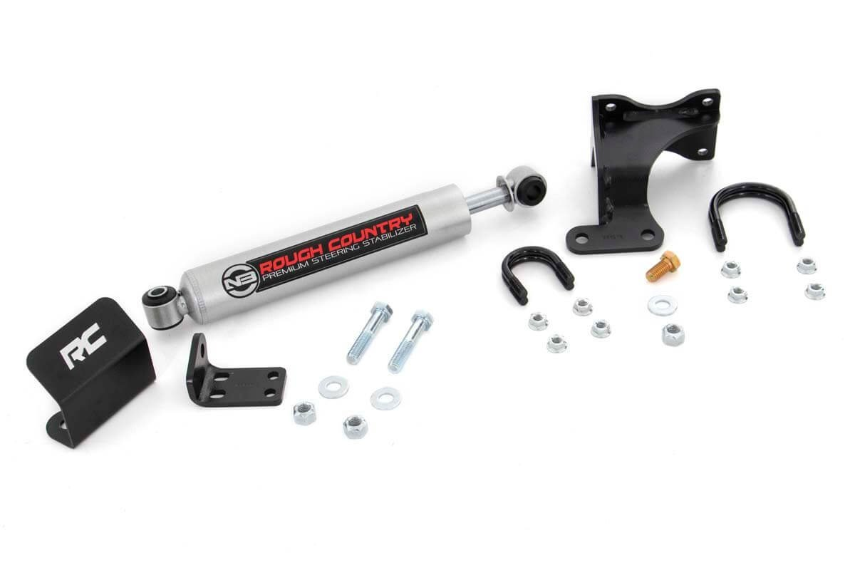 Rough Country Steering Stabilizer for 2-6-inch Lifts w// Performance 2.2 Shock 87319