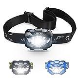 Headlamp,Litom LED Headlamp with Body Sensor, 6 Illumination Modes, Long Life, Portable Work Lights, Cycling Safety Reflectors for Camping, Hiking, ECT(Waterproof)